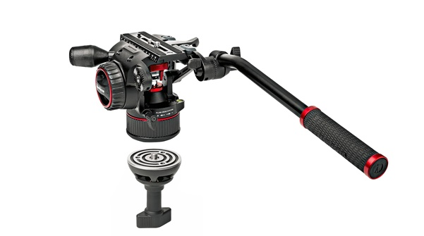Manfrotto Nitrotech N8 Fluid-Video-Kopf & 546GB Doppelrohrstativ