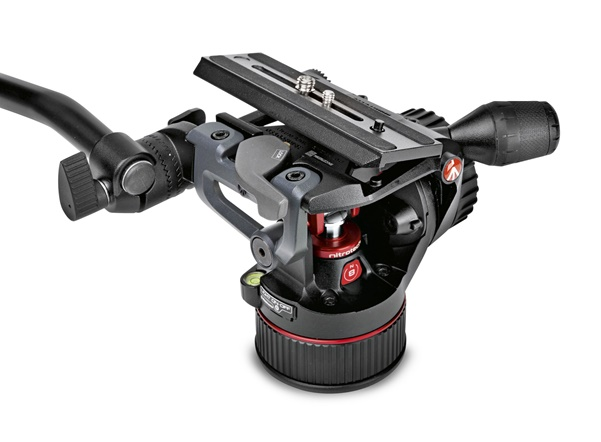 Manfrotto Nitrotech N8 Fluid-Video-Kopf mit Counterbalance System