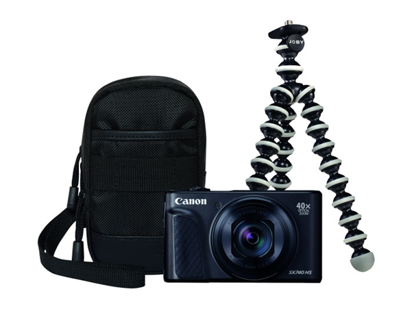Canon PowerShot SX740 HS schwarz Travel Kit