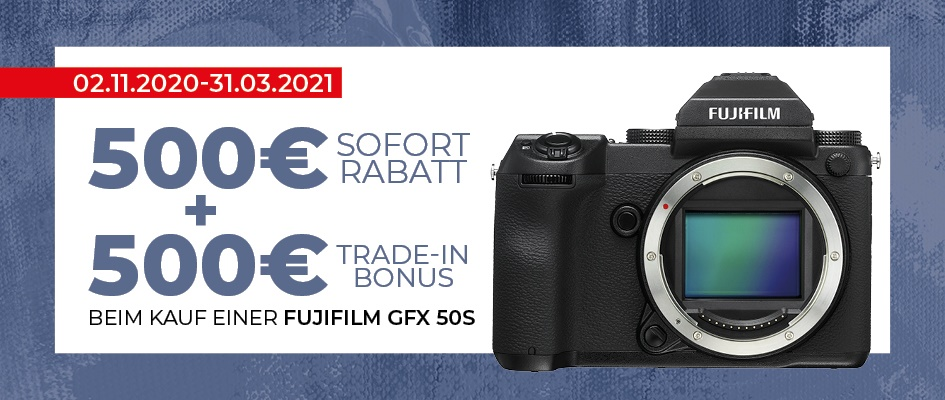 Fujifilm GFX 50s Trade-In Aktion